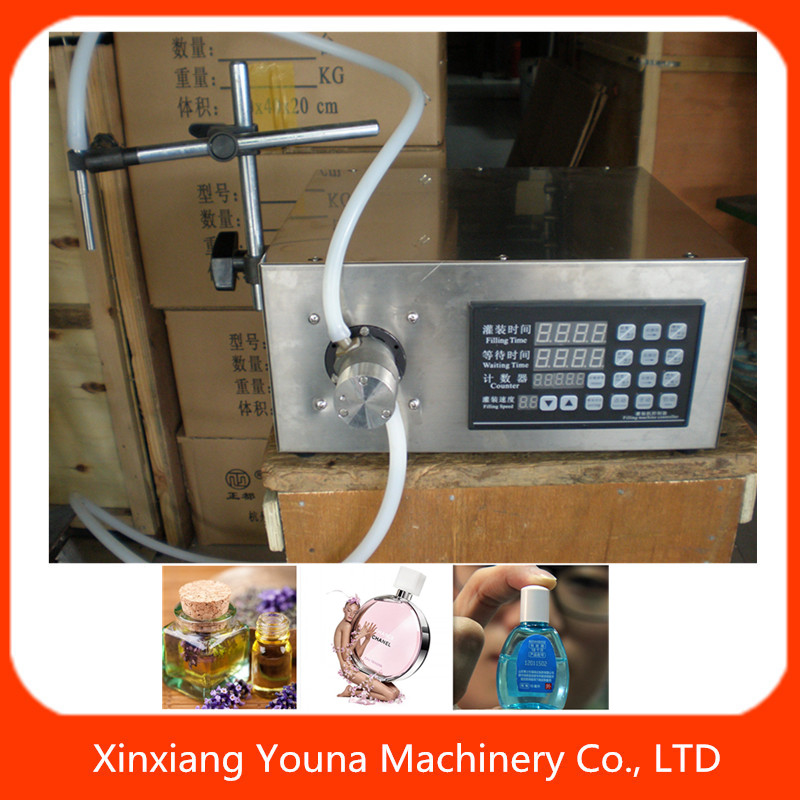 manual digital control small bottle virgin coconut oil filling machine