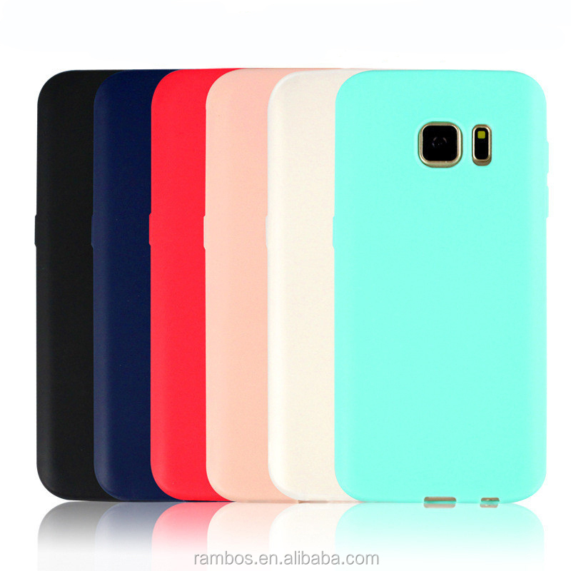 TPU Phone Candy Slim Soft Rubber Back Cover Solid Mobile Case for Samsung Galaxy S8