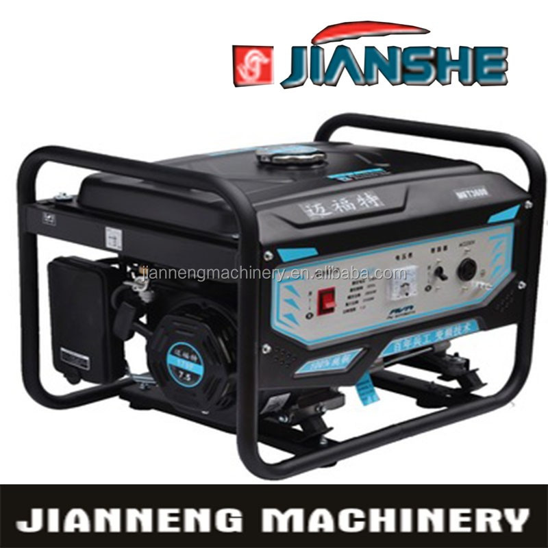 JIANSHE(CHINA) alternator 5kw power Generator 5kva 3 phase generator 100% copper battery gasoline generator