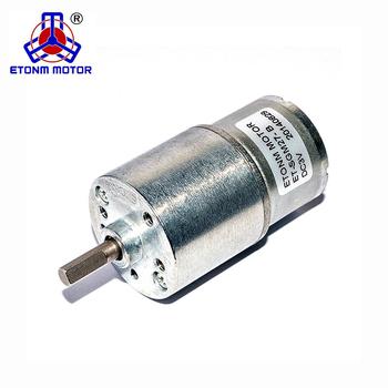 12v Electric Motor Low Rpm Reversible 360rpm Mini Gear Box Dc 27mm High Torque