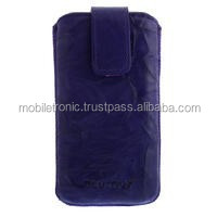 Geniune Leather-Case Washed Purple for Apple iPhone 4 4S