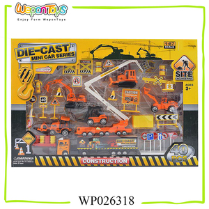 hot sale 1:87 scale toy truck set 40pcs diecast truck for kids playing diecast truck model