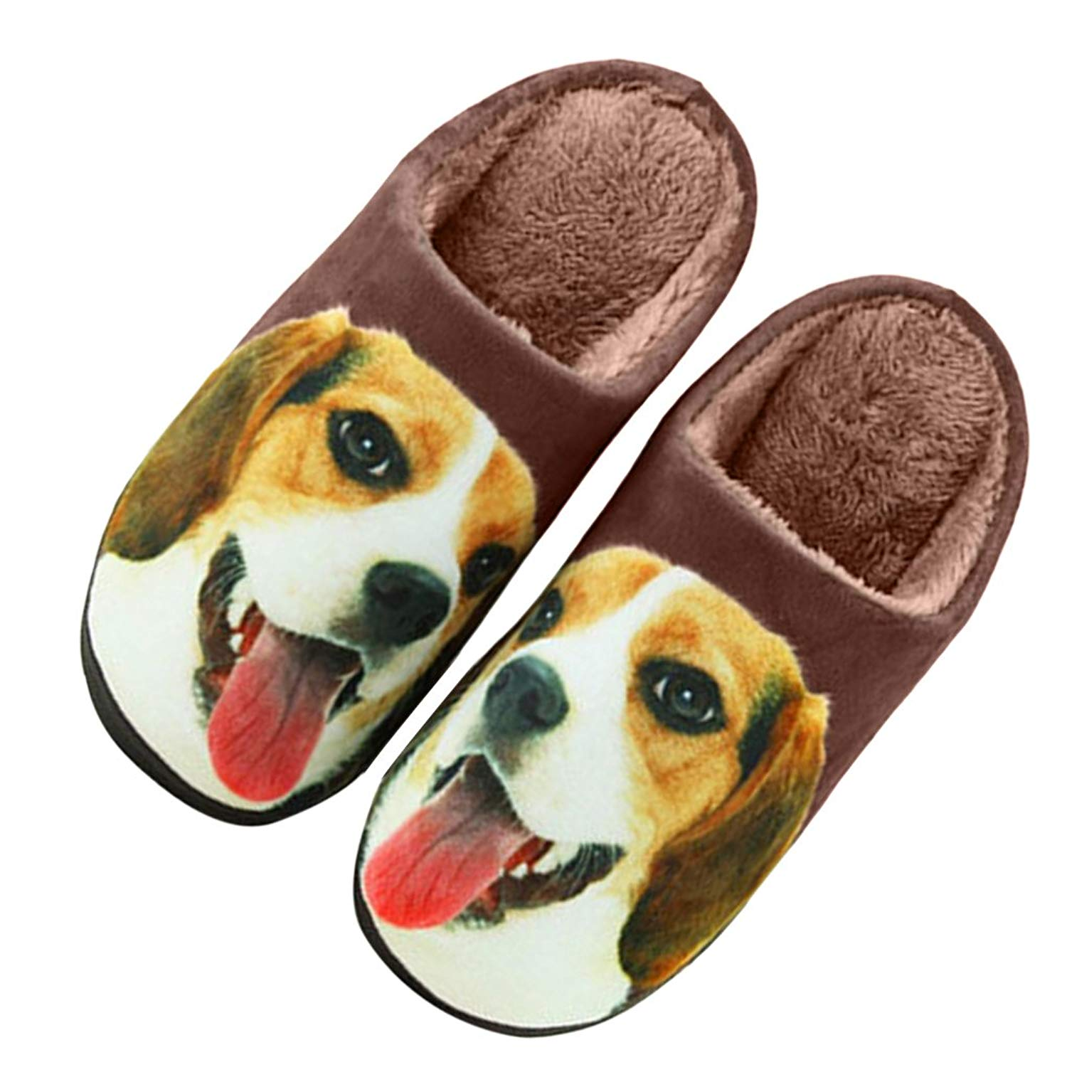 e2376ddb682 Get Quotations · JIAHG Creative Print Couples Slippers Cartoon Cute Scuff Slippers  Winter Warm Indoor Floor Shoes Cotton House