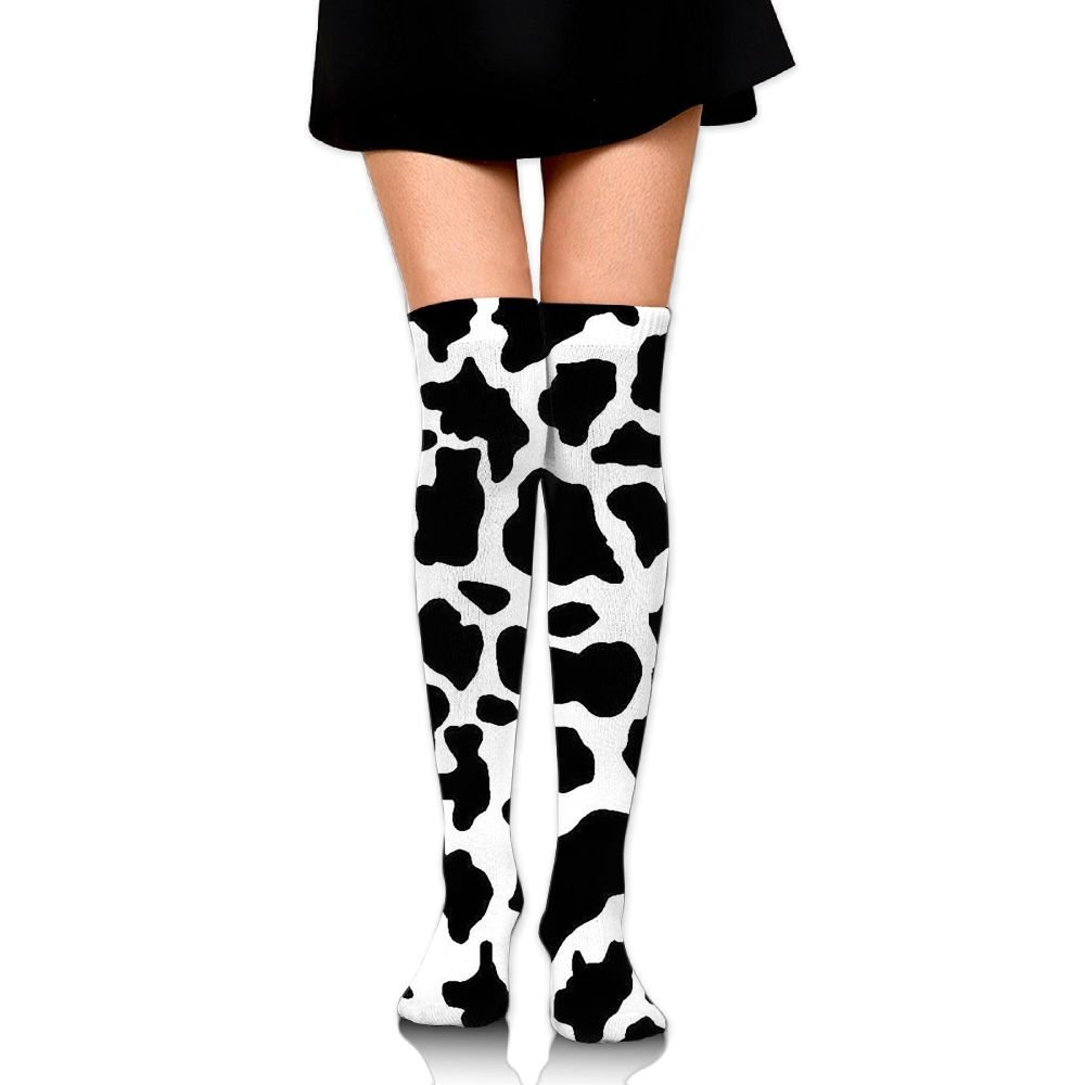 e914a7811 Get Quotations · Cow Pattern Unisex Compression Socks Popular Knee High  Socks Athletic Tube Stockings Sport Long Socks One