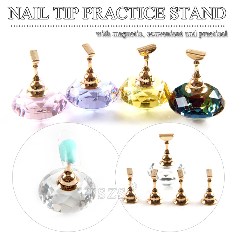 TSZS stock quantity 5 PCS Magnet Chess nail tip stand holder nail art spherical Crystal display