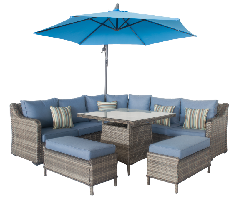 Garden Furniture Outdoor Rattan Sofa Patio Rattan SOfa Set Garden Sofa Set