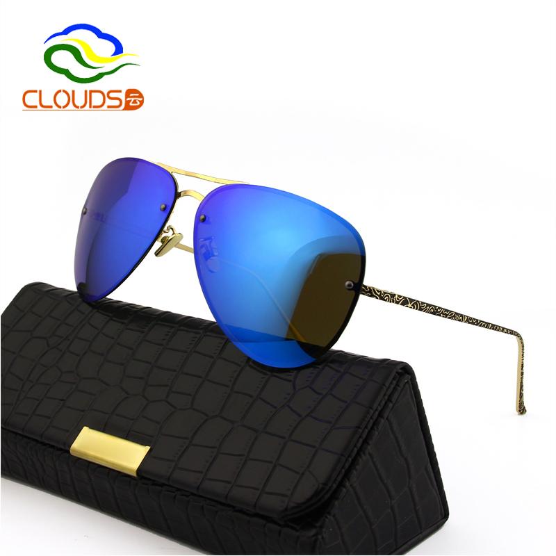 7e7f5a61264 Get Quotations · High Quality UV400 Polarized Oversized Rimless Sunglasses  Women Brand Designer Luxury Mirror Round Sunglasses With Logo