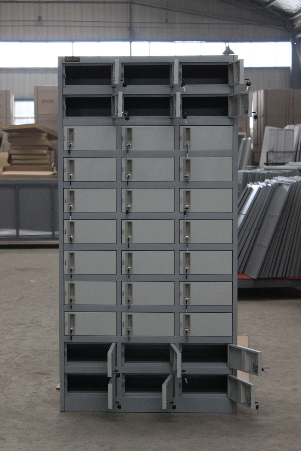 Stainless Steel Pigeon Hole Cabinet/30 50 Hole Metal Cabinet/muti Function  Cabinet