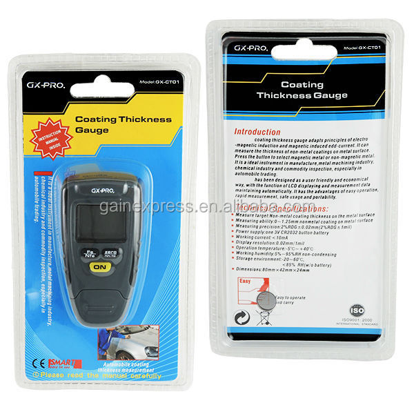 Paint Coating Thickness Tester Digital Gauge Meter Instrument 1.25mm Iron Aluminum Base Metal Car Automotive
