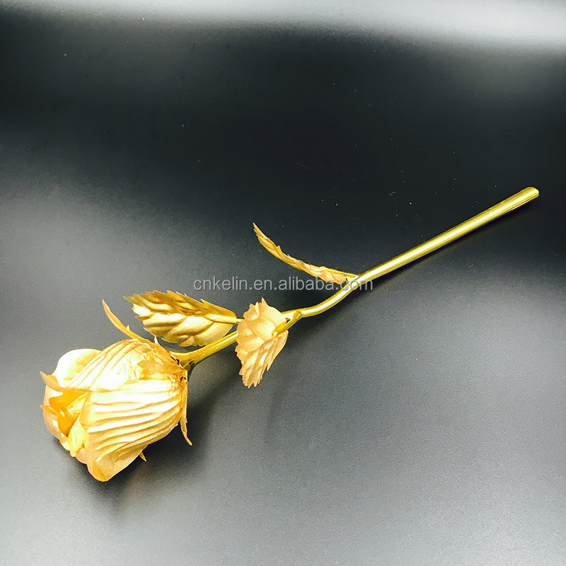 Creative <strong>Metal</strong> Rose The 25cm 24K Gold Dipped Rose Bud for someone special