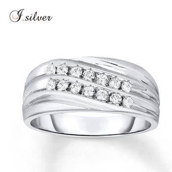 Man Made Diamond Rings 925 Sterling Silver Men Ring R50926