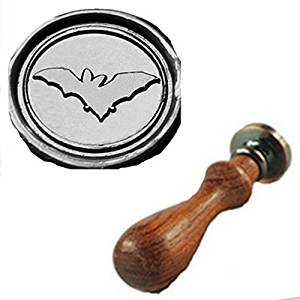 Get Quotations Vintage Cute Bat Flying Custom Picture Logo Wedding Invitation Wax Seal Sealing Stamp Rosewood Handle Set