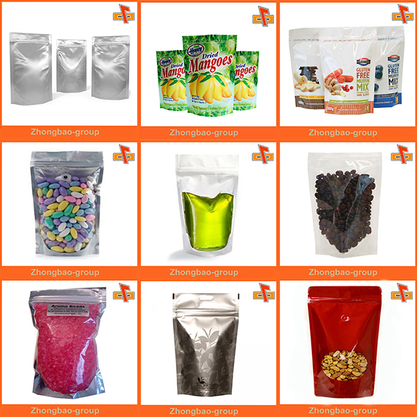 plastic lined aluminum foil stand up pouch with zipper top/standing up bag for Powder Drink
