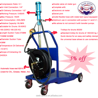 Heavy Duty Mobile Lubricant Oil Pump Kit With Oil Drum Trolley