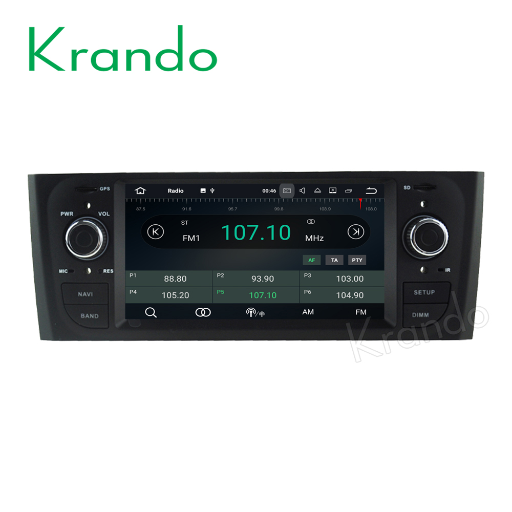Krando Android 7.1 car navigation system for fiat punto 2005-2009/Linea 2007-2011 dvd gps radio multimedia wifi 2G RAM KD-FP601