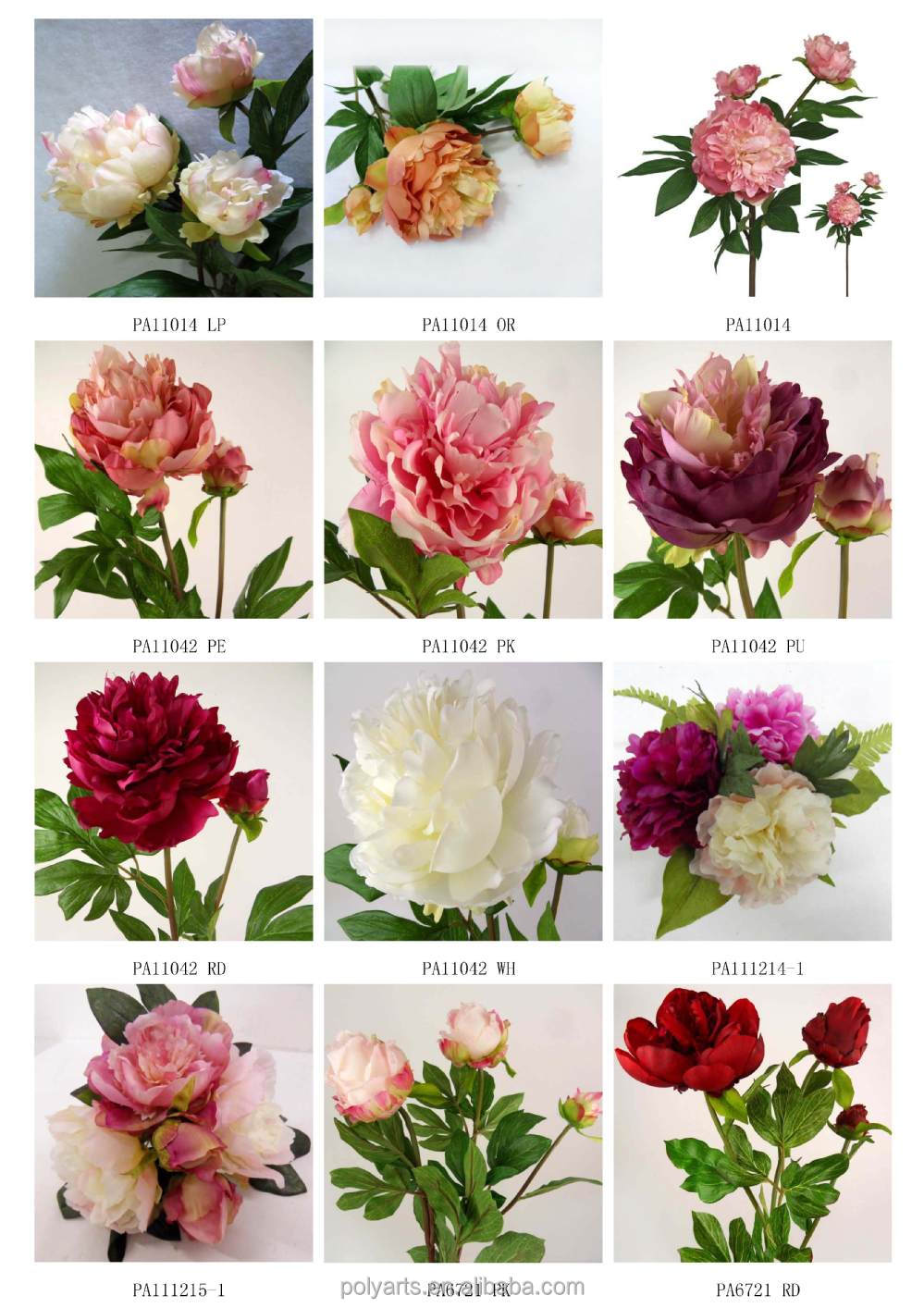 25 artificial single peony silk flower stem for wedding 25 artificial single peony silk flower stem for wedding decoration dhlflorist Images