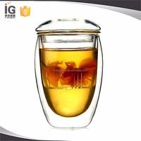 Glass Double Wall Mug / Glass Cup Set 250 ml