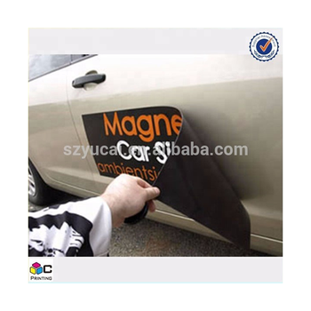 Custom PVC material fridge and car magnet sticker with soft sticker