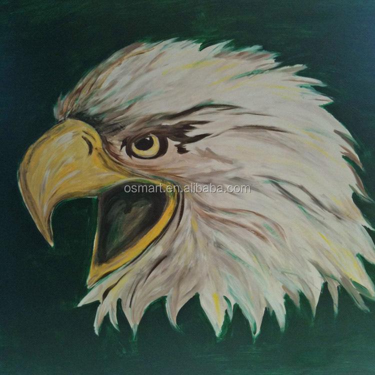 Profesional Handpainted Artist Kualitas Tinggi Abstrak Hewan Elang