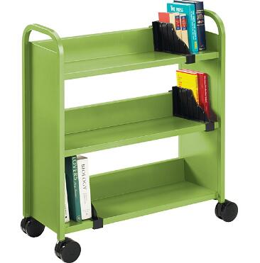 पुस्तकालय डबल पक्षीय पुस्तक ट्राली/मोबाइल स्टील बिक्री के लिए पुस्तक गाड़ी