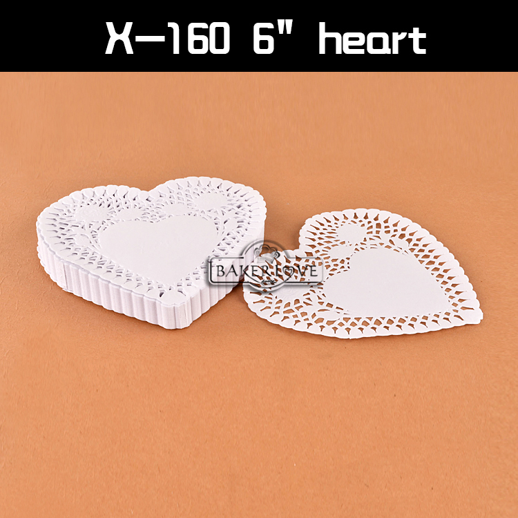 Heart shaped paper doilies/white bulk paper doilies/paper doilies/lace paper placemats#X-205