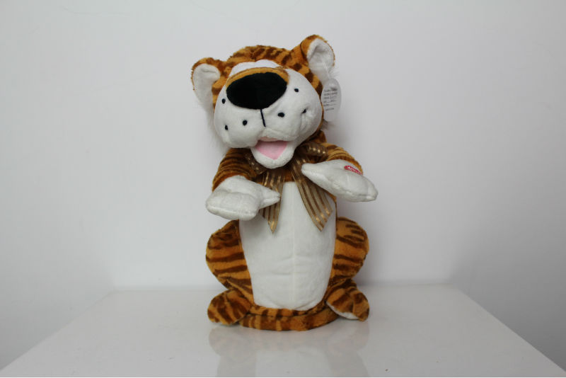 Cool fur fabric making soft plush stuffed tiger toys