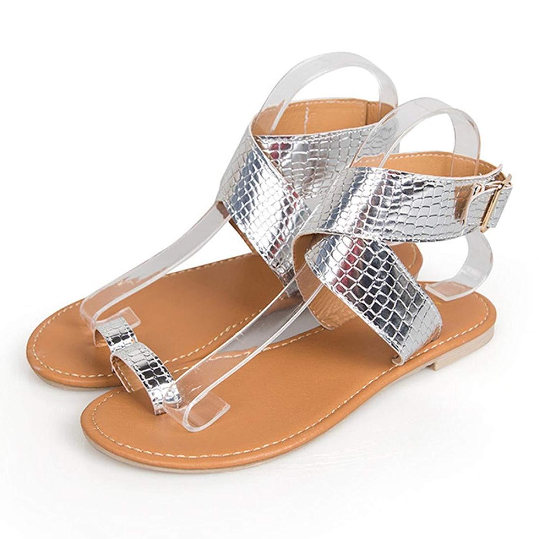 861261843 Get Quotations · WOCACHI Women Shoes Summer Clearance Cross Belt Strappy Flip  Flops Sandals
