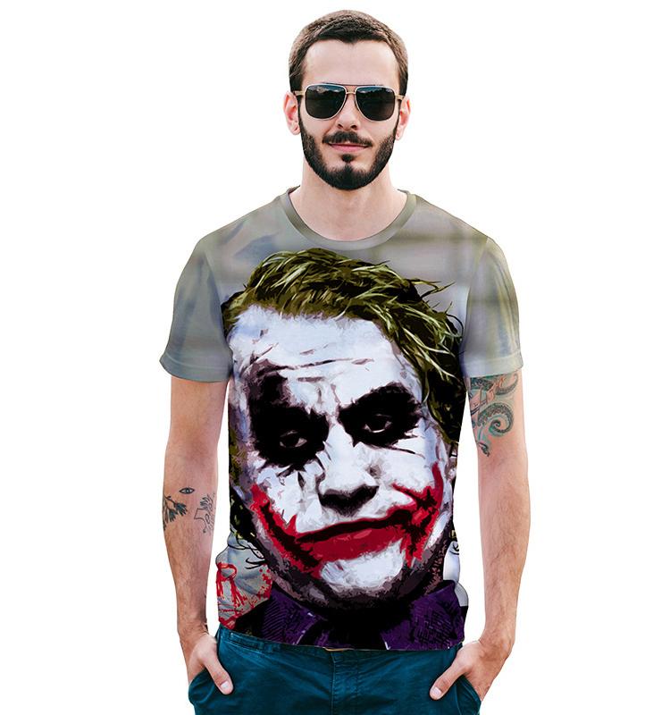 Vendita calda Estate Degli Uomini del Burlone di Sublimazione Personalizzato di Stampa T-Shirt Gym T Shirt