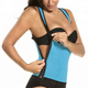 Womens Spandex Exercise Seamless Waist Shaper Slimming Neoprene Sweat Sauna Vest With Side Zipper