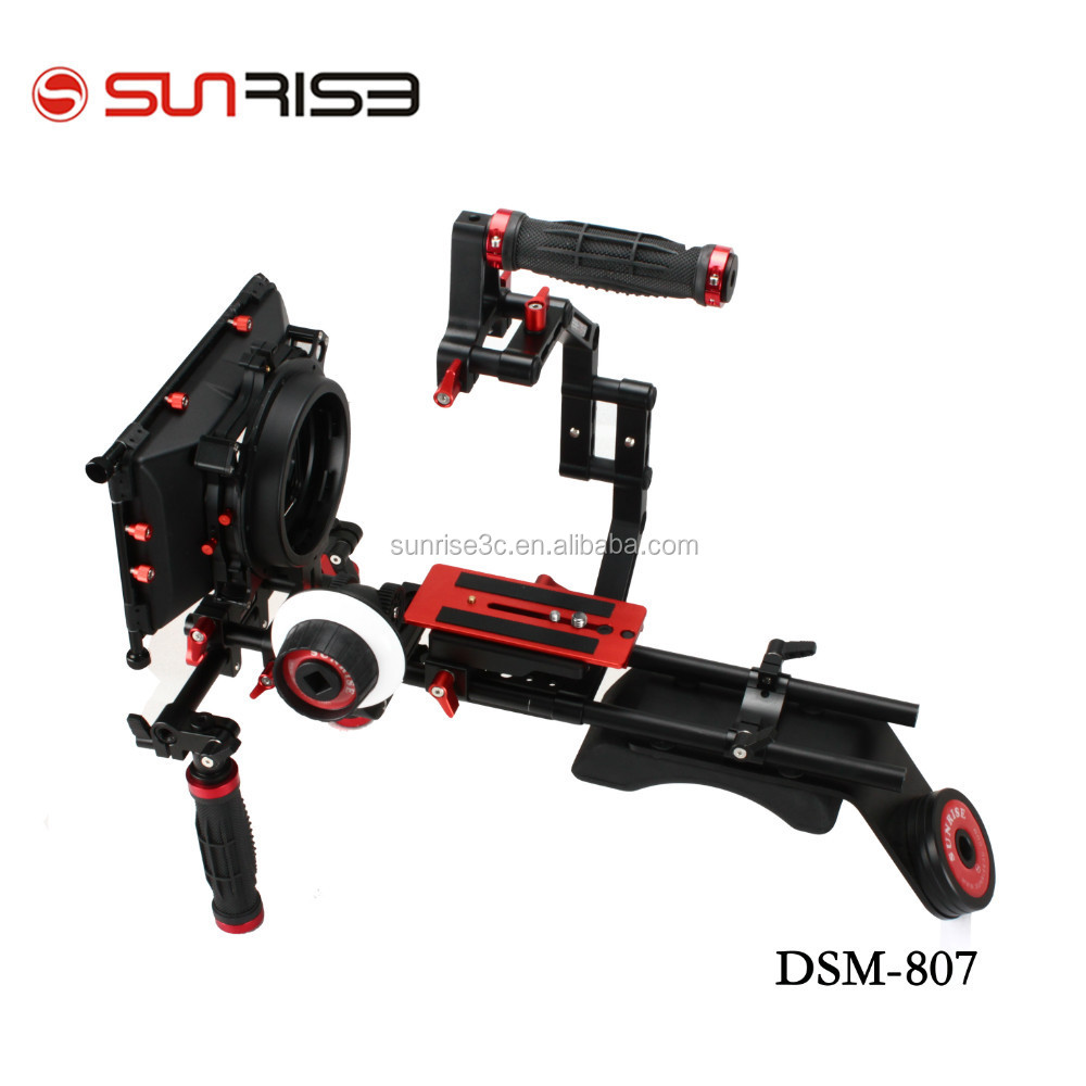DSLR rig video camera shoulder rig with follow focus matte box from SUNRISE