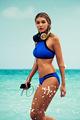 Beach 2016 Hot Sale Women Swimwear Bikini Set High Neck Swimsuit Beach wear Halter Style Bathing