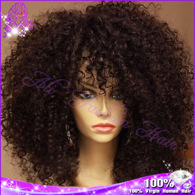 Afro Kinky Curly Lace Front Wig - Wig Ponytail