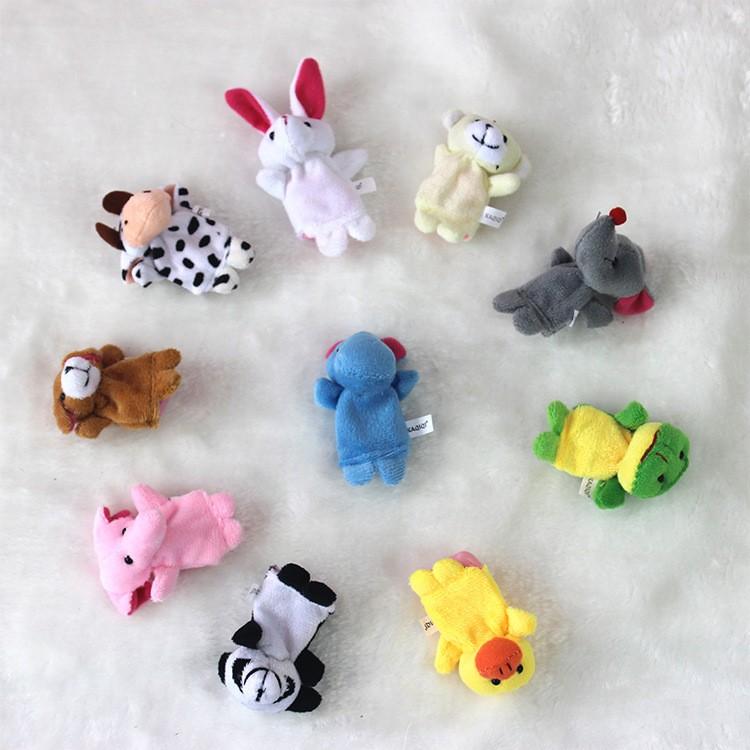 Promotional Handmade Plush Animal Finger Puppet for Children