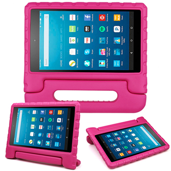 Wholesale price hot selling kids friendly shockproof light weight handle stand case cover for amazon kindle fire hd 8 2017