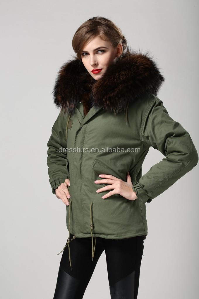 2016 Winter Women Natural Mink Fur Coat Coffee Color Fur Lined ...