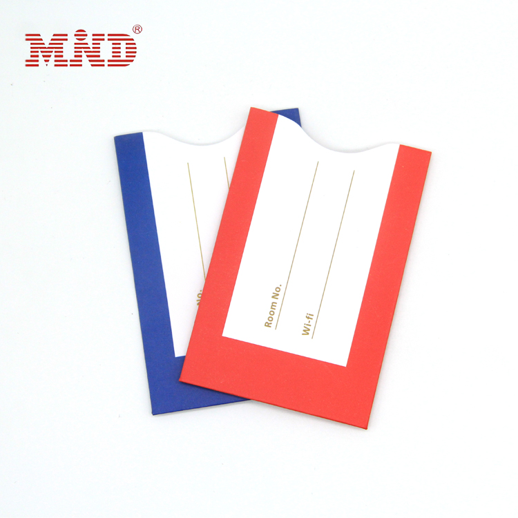 Professional supplier custom paper hotel key card envelopes