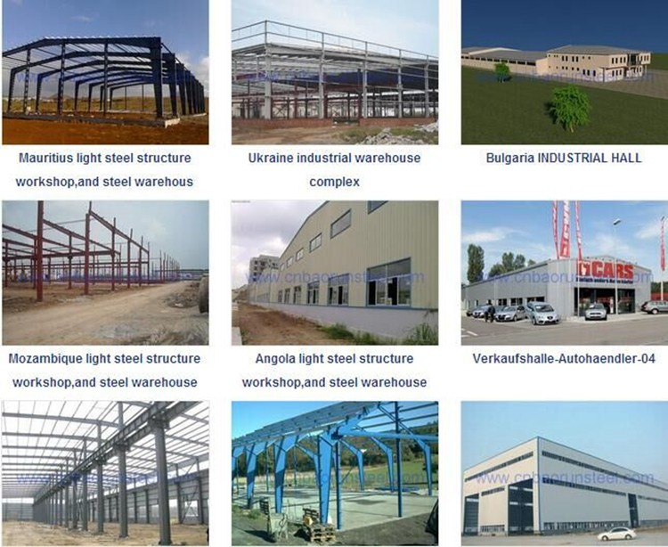 Low cost light steel prefabricated warehouse