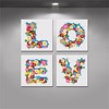 "Beautiful Flower English Letters ""LOVE""Canvas Painting By Numbers"