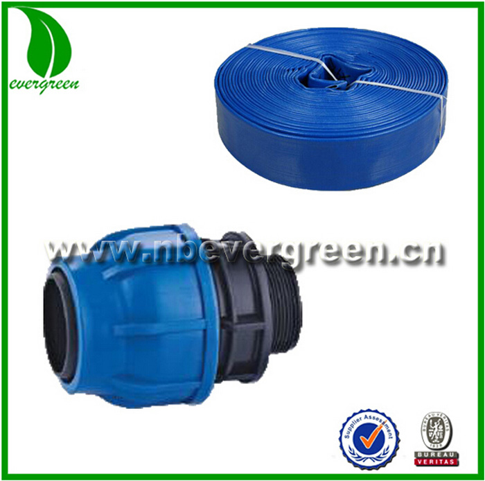 pipe fitting pvc lay flat hose fittings adaptor