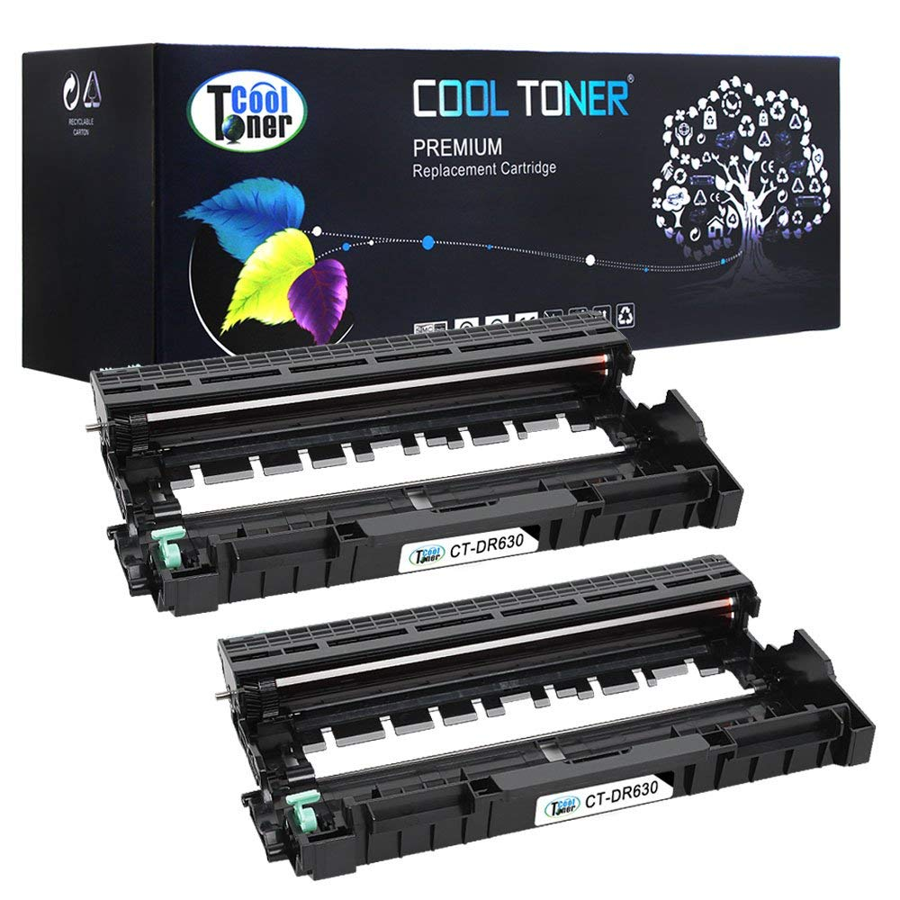 Cool Toner 2 Pack Compatible Drum Unit Brother DR630 DR-630 DR630 12,000 Page Yield for Brother HL-L2340DW HL-L2300D HL-L2380DW HL-L2320D DCP-L2520DW DCP-L2540DW MFC-L2700DW MFC-L2740DW MFC-L2720DW