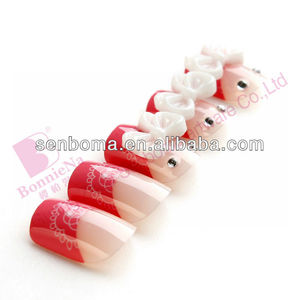 2013 New Design 3d nail art false nail tip