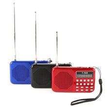Mini Portable LCD Digital FM Radio Speaker USB Micro Fr SD Card Mp3 Music Player Free Shipping