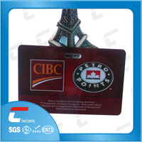 Double sided pvc business cards programmable slot hole punch with Barcode