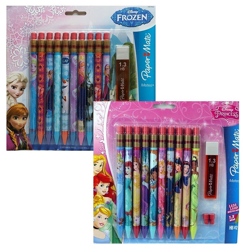 Disney Princess 4 Pack Paper Mate Mechanical Pencils HB#2 New