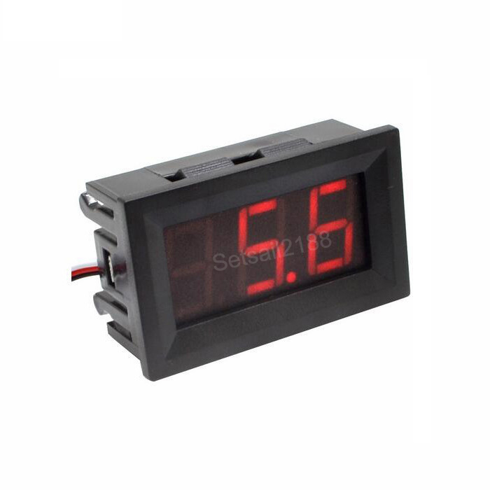Digital DC 0-30V Voltmeter Voltage Volt meter DC 0-40V three wire 0.56 inch red blue green VD58