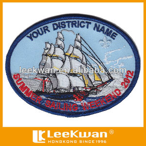 summer sailing weekend embroidery patch