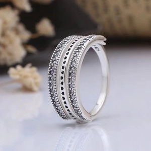 Fashion wholesale rings jewelry women cubic zirconia silver sterling jewelry 925