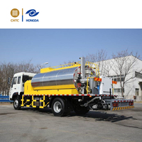 CHTC Euro III asphalt distributor truck, bitumen spraying machine for road construction