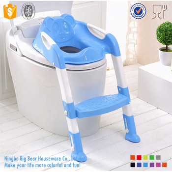 Kids Potty Trainer Step Baby Potty Seat With Ladder Cover Toilet Folding Chair  sc 1 th 225 & Kids Potty Trainer Step Baby Potty Seat With Ladder Cover Toilet ...