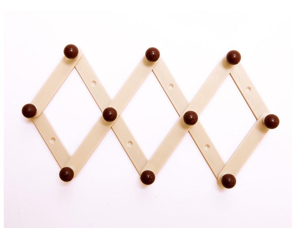 Folding Retractable Hanger Rack Wall Door Stick Coat Hat Hanging Hook